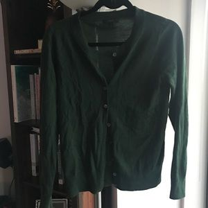 J. Crew merino wool sweater in hunter green